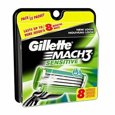 Gillette Mach3 Power Men's Razor Blade Refills Sensitive, 8 ct, Mach 3 / Blades