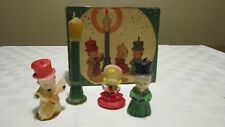 Vintage Gurley Christmas Caroller Candle Set Of 4 In Original Box NICE