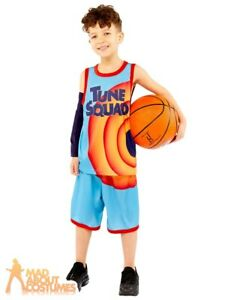 Kids Space Jam 2 Costume Looney Tunes Book Day Week Child Fancy Dress Outfit