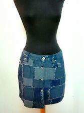 Gonna DIESEL donna denim jeans 30 minigonna patchwork