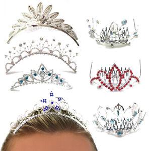 Tiara Combs Fancy Dress Ladies Girls Head Piece Crystal Diamante Princess Crown