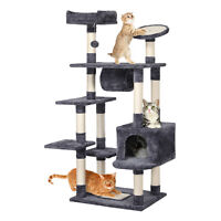 62'' Large Cat Tree Tower Condo Furniture Scratch Post Kitty Pet House Play