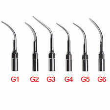 6 pcs EMS Woodpecker Type Ultrasonic Dental Scaler Tip Scaling G1 G2 G3 G4 G5 G6