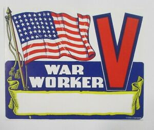 """Cinderella WWII 1944 FOR VICTORY  """"WAR WORKER""""  See Pic"""