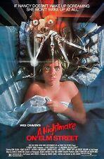 A NIGHTMARE ON ELM STREET (1984)  ORIGINAL MOVIE POSTER  -  TRI-FOLDED
