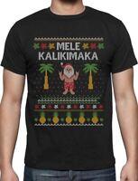 Mele Kalikimaka Hawaiian Santa Themed Ugly Christmas Sweater T-Shirt Gift Idea