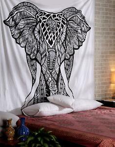 Indisch Elefant Mandala Wandbehang Tapisserie Wandteppich Yoga Badetuch Matte