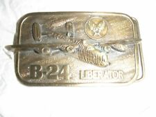 WWII B24 LIBERATOR BOMBER BELT BUCKLE - COLLECTOR SERIES - MILITARY AIRCRAFT
