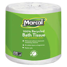 Marcal Toilet Paper Recycled 2 Ply White Bath Tissue 336 Sheets 48 Roll