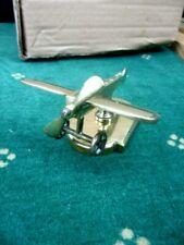 Sculpture en laiton: Petite maquette d'Avion monoplan sur socle années 1920/1930
