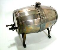 Antique WSW Dutch Silver Plate Barrel Liquor Dispenser w/ Windmill & Farm Scenes