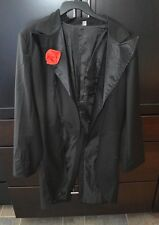 Steampunk Tux Tails Tuxedo Jacket Coat Sz L Black Halloween Victorian Cosplay