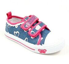 scarpe da bambina ginnastica sportive in tela sneakers per bimba a strappo nuovo
