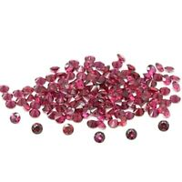 Wholesale Lot of 1.75mm Round Faceted Rhodolite Garnet Loose Calibrated Gemstone
