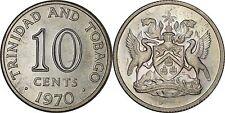 Trinidad & Tobago 10 Cents 1970 PROOF ~Mintage 2,104~