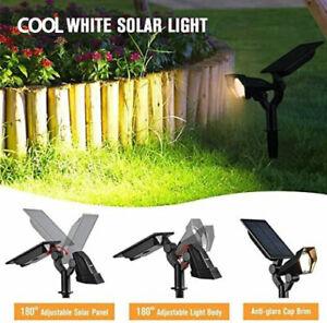 2 x Solar Lights Sun Powered LED Garden Outdoor Garden Lamps 3 Modes Uplights