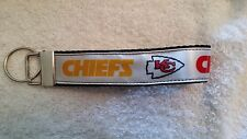 Handcrafted Nfl Kansas City Chiefs Key Chain Wristlet Free Shipping