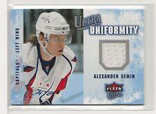 2008 / 2009 Fleer Ultra Alexander Semin JERSEY Washington Capitals UNIFORMITY