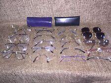 Prescription Eye Glasses Lot of 20 Mix Brand Eyeglasses/sunglasses/reading