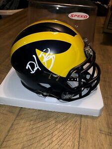 Dave Portnoy Signed Auto Michigan Mini Helmet Barstool El Pres