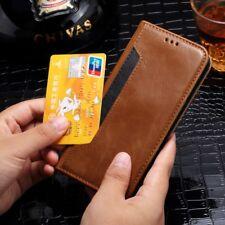 Luxe Coque Magnétique Flip Portefeuille en cuir porte-carte pour Samsung iPhone