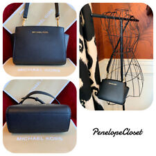 cec75b176e14 NWT MICHAEL KORS SAFFIANO LEATHER SELMA MINI CROSSBODY BAG IN BLACK