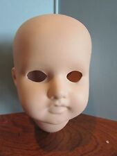 "Vintage Bisque Doll Head 4"" Tall unpainted body parts R/A Def 1"