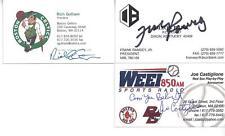 DECEASED HALL OF FAMER & CELTICS LEGNED FRANK RAMSEY SIGNED BUSINESS CARD