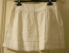 Minigonna bianca TOPSHOP white mini skirt UK10 IT42 Sienna Miller Olivia Palermo