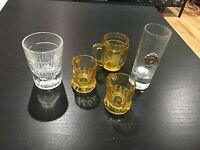 Shot Glass Lot Of 5 Beer Mug Hoover Dam Liquor Beer Barware Measured Pour