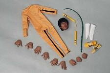 Custom Bruce Lee 1/6 Game of Death Jump Suit Nunchaku for Hot Toys Enterbay Body