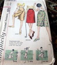 *LOVELY VTG 1960s SKIRT Sewing Pattern Waist 28