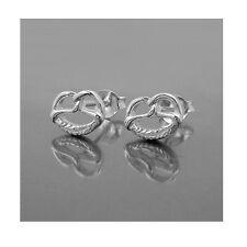 1 Paar Brezel Ohrstecker Bretzel Bäcker Brezeln Ohrringe aus Echt Silber 925 Neu