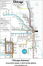 Subway Map Chicao.Chicago Subway Map Ebay