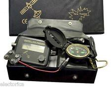 SATELLITE FINDER KIT SIGNAL METER LNB SATELITE COMPASS POWER SUPPLY BELL DISH !