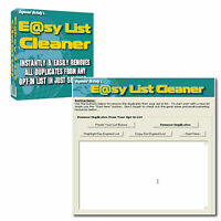 LIST CLEANER Software REINIGT EMAIL ADRESSEN Marketing Marketer Werbung Tool MRR