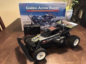 Radio Shack Golden Arrow Frame Buggy R/C Car Buggy F10 WORKS!