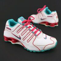 NIKE Shox NZ EU 488312-146 White / Turquoise / Pink - Women's US 7.5 Authentic