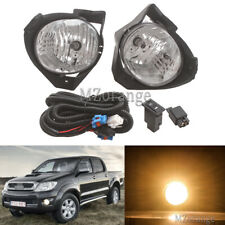 Pair Front Spot Fog Light Lamps Wiring Kits For Toyota Hilux 2008 2009 2010 2011