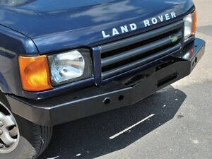 LAND ROVER DISCOVERY 2 1999-2004 HEAVY DUTY FRONT STEEL BUMPER WITH WINCH MOUNT