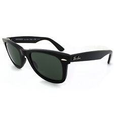 198d9e4674a Ray-Ban Rb2140 Original Wayfarer Sunglasses Black Frame crystal Green  Polarized