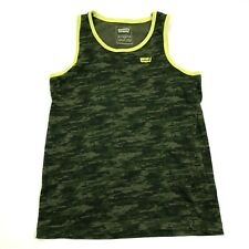 Levi's Camouflage Tank Top Boys Size Large L Youth Camo Shirt Kids Embroidered