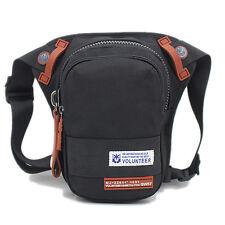Men's Waterproof Oxford Military Drop Leg Messenger Shoulder Bag Waist Belt Pack