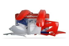 POLISPORT SET PLASTIQUE COMPLET CROSS MX ROUGE BLANC HONDA CRF 450 R 02-03