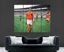 Johan Cruyff cartel Neerlandés Holanda Superstar leyenda fútbol Pared Arte Impresión