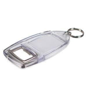Bottle Opener Keyring Keychain Personalise Photos Insert Size 40x32mm (R1) Blank