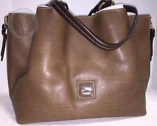 NWT*Dooney & Bourke*TAUPE* Florentine Large Zip Barlow*17084L S161