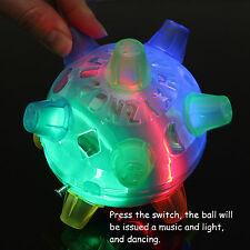Jumping Joggle Bopper LED Light Up Bouncing Vibrating Sound Sensitive Ball Toy