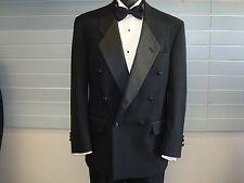 Christian Dior 100% Wool Black Double Breasted Tuxedo Jacket - 38 Regular