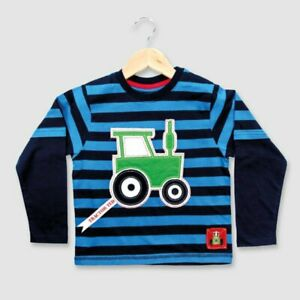 Striped Applique, Long-Sleeve - Blue (1-6 years)